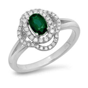 0.27CT 11-12/HI 0.41CT Emerald