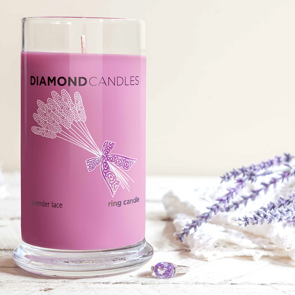 Lavender Lace Ring Candle