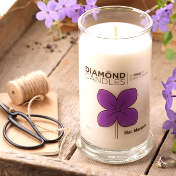 Lilac Blossom Ring Candle