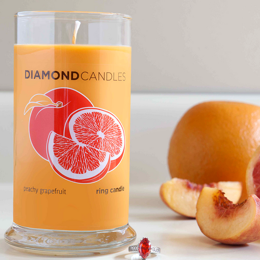 Peachy Grapefruit Ring Candle