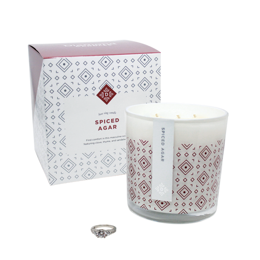 Spiced Agar Luxe Ring Candle Standard