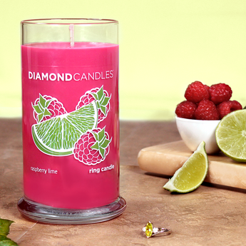 Raspberry Lime Ring Candle