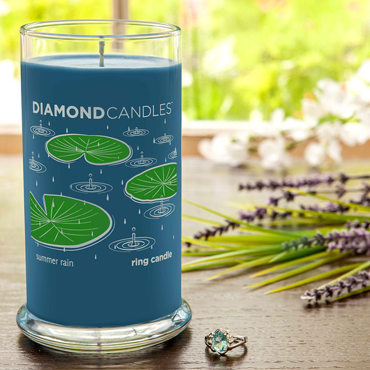 Summer Rain Ring Candle Diamond Candle