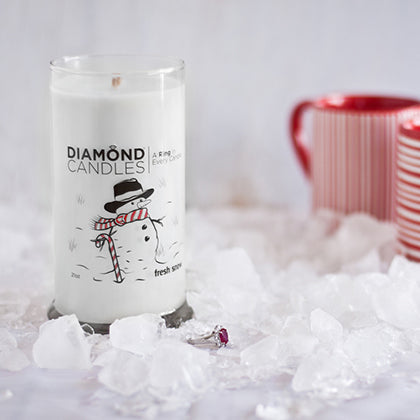 Fresh Snow Ring Candle