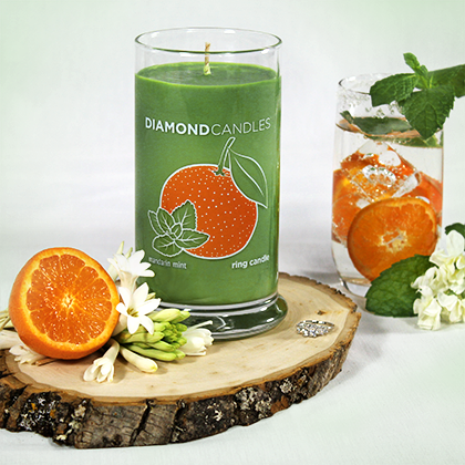 Mandarin Mint Ring Candle