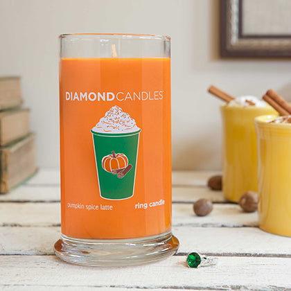 Pumpkin Spice Latte Ring Candle