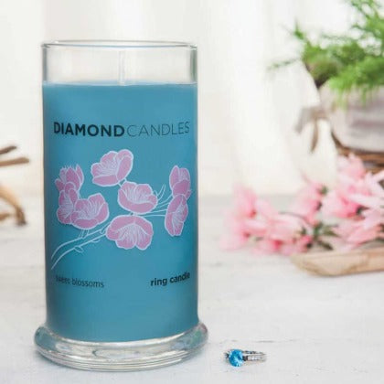 Sweet Blossoms Diamond Candle Ring Candle