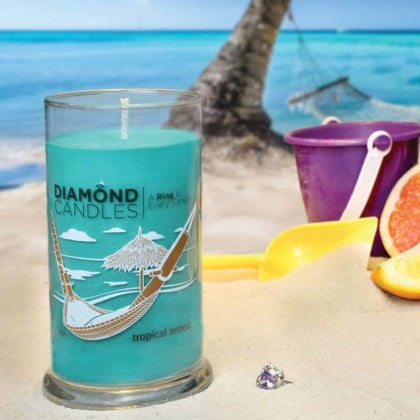 Tropical Retreat Ring Candle Diamond Candle