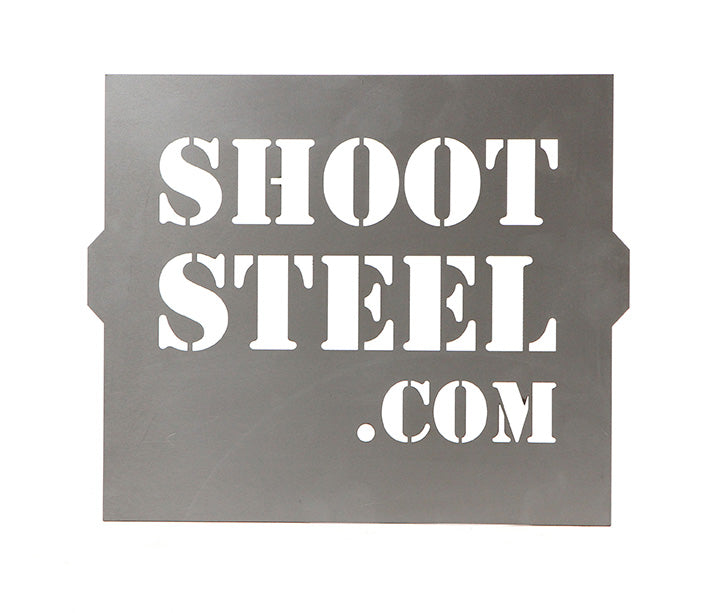 Shoot Steel Logo Stencil