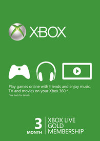 Xbox Live 3 Month Gold Card | BaRRiL