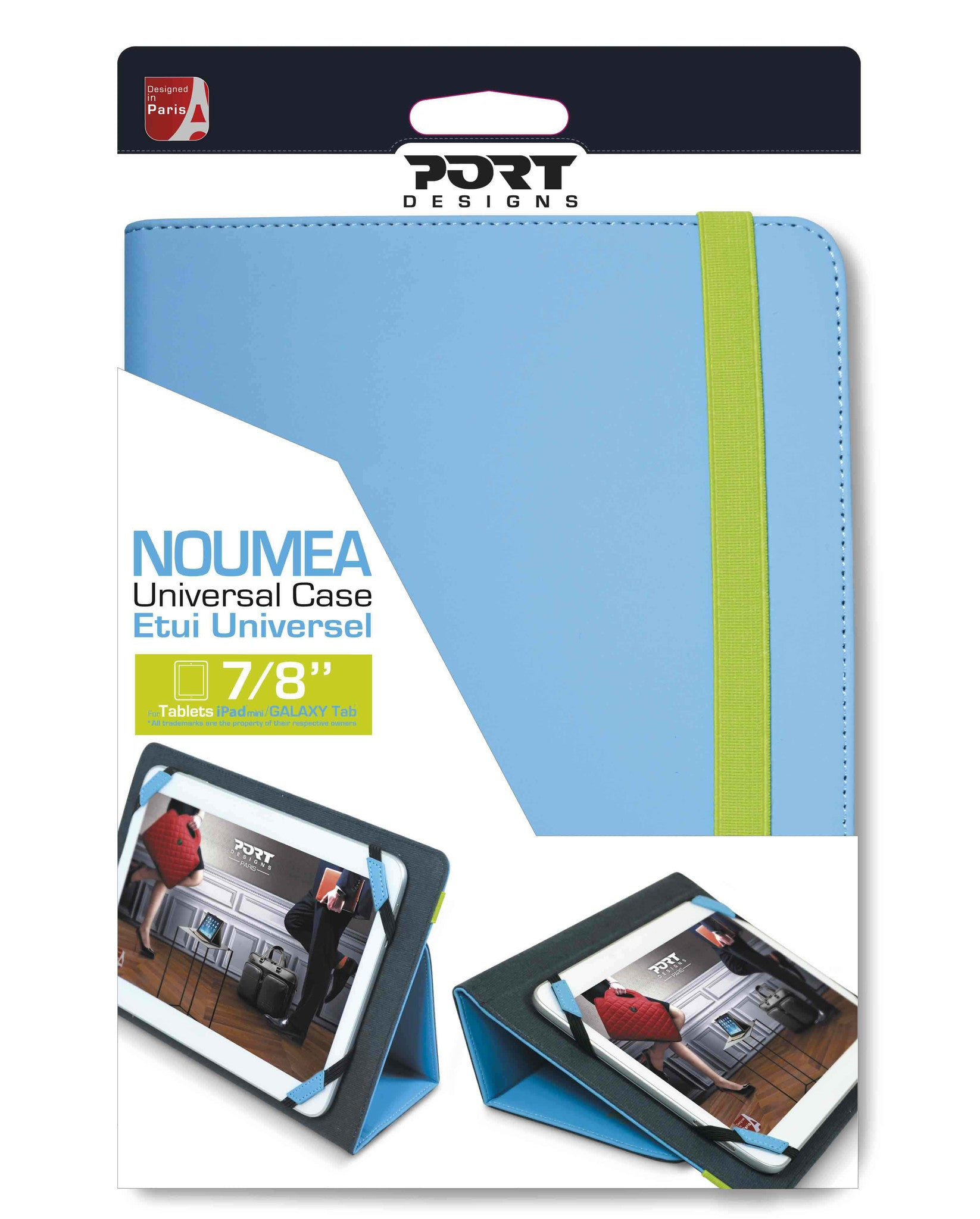 "PORT Designs - Noumea Universal 7-8"" Blue Cover (Fits all tablets 7-8""), Accessories, Port, BaRRiL - BaRRiL"