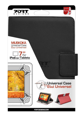 "PORT Designs - Muskoka Universal 7"" - Black Covers (Fits all tablets 7""), Accessories, Port, BaRRiL - BaRRiL"