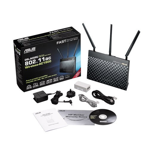 Asus Dsl-Ac68U - Dual-Band Wireless-Ac1900 Gigabit Adsl/Vdsl Modem Router, Networking, ASUS Networking, BaRRiL - BaRRiL