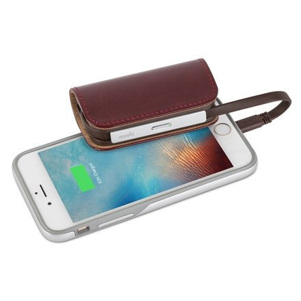 Moshi Ion Bank 3K With Light/Usb Cable - Burgundy Red | BaRRiL