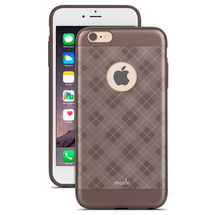Moshi iGlaze For iPhone 6/6s Plus - Tartan Walnut | BaRRiL