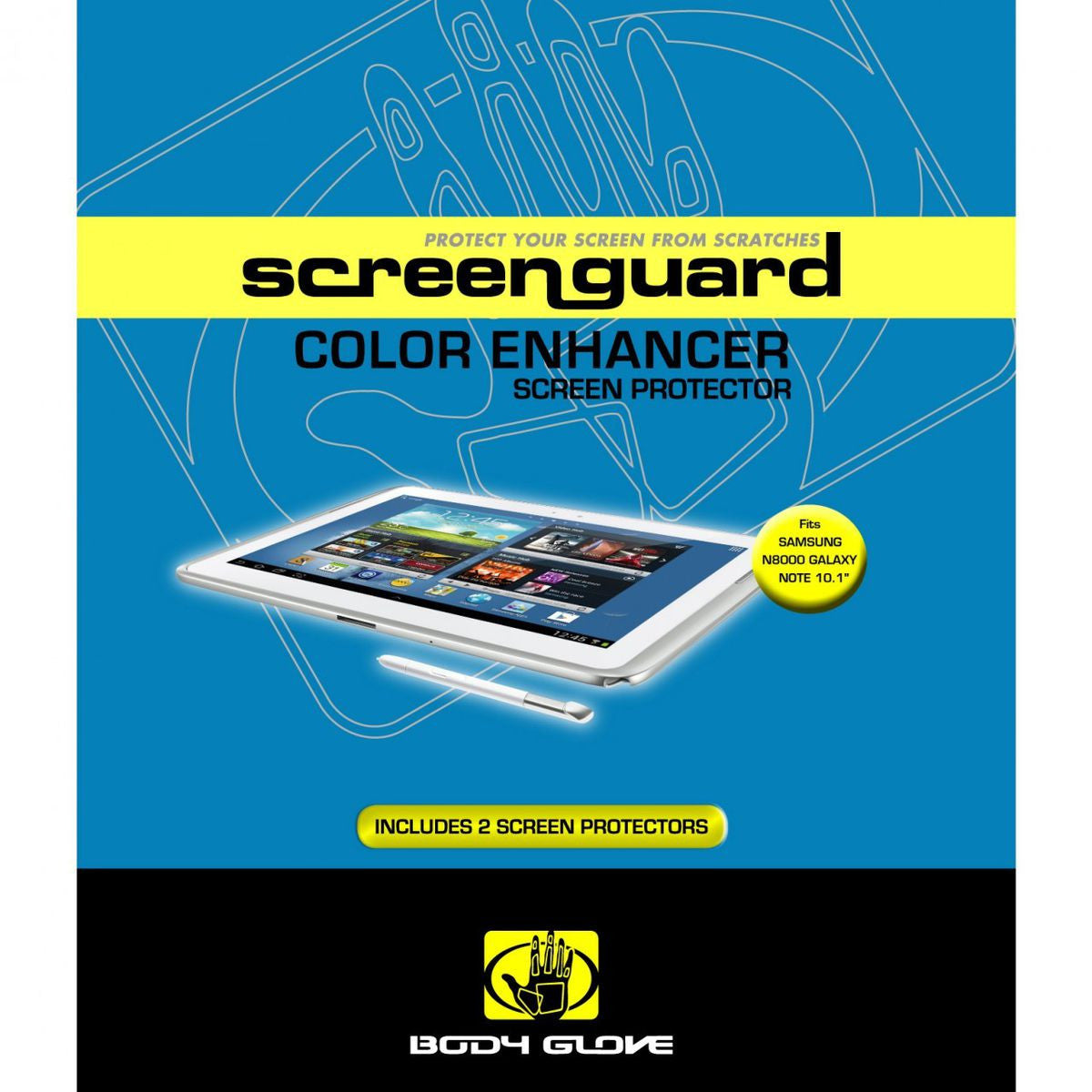 "Body Glove Antiglare Screen Guards Galaxy Note 10.1"" (P6050), Accessories, Body Glove, BaRRiL - BaRRiL"