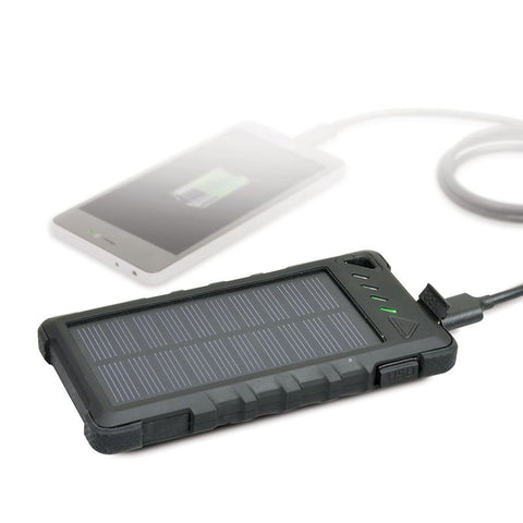 PORT Connect - Rugged Solar PowerBank Battery - 8000 Mah - Black, Accessories, Port, BaRRiL - BaRRiL