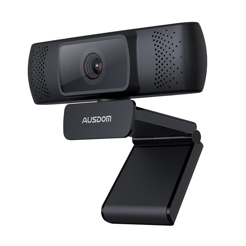 Ausdom Af640 1080p Fhd Wide Angle Desktop Webcam Black