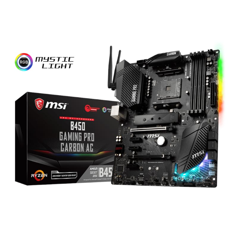 Msi B450 Gaming Pro Carbon Ac Amd Am4 Atx Gaming Motherboard