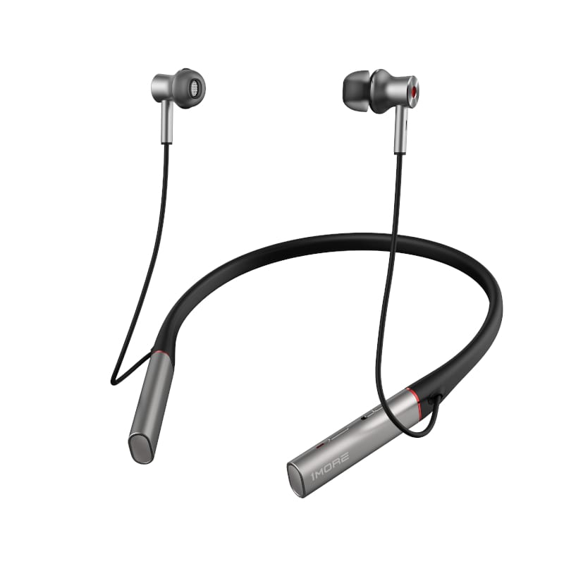1MORE HiFi E1004BA Dual Driver Active Noise Cancelling BT In-Ear Headphones - Silver