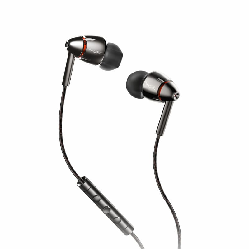 1MORE HiFi E1010 Quad Driver Hi-Res Certified 3.5mm In-Ear Headphones - Grey