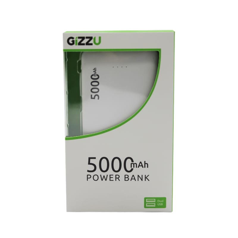 GIZZU 5000mAh 2x USB Power Bank