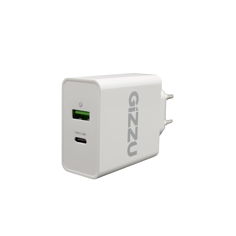 GIZZU Wall Charger Type C 18W PD QC3.0 18W - White