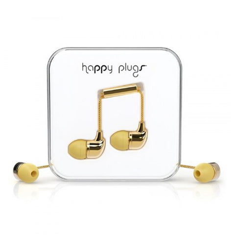 Happy Plugs Delux In Ear+Mic & Remote Gd