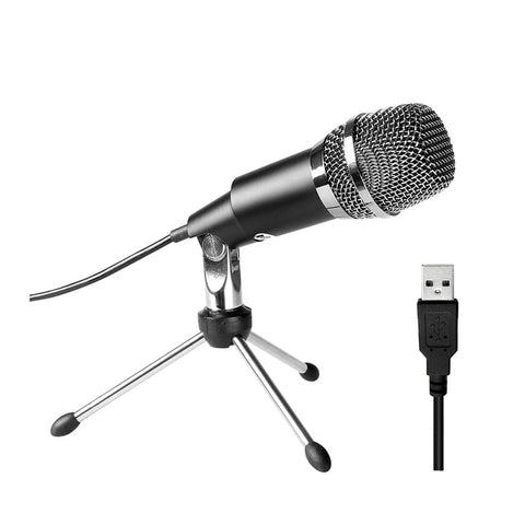 Fifine K668 Uni-Directional USB Condensor Microphone with Tripod - Black
