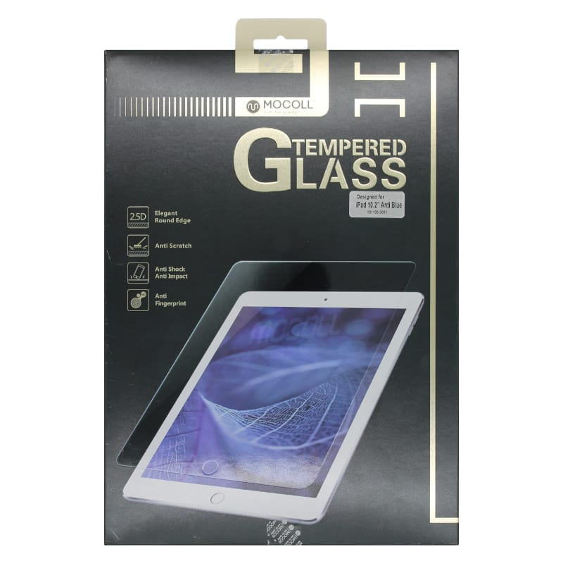 Mocoll 2.5 D Tempered Glass Full Cover Screen Ipad Pro 10.2 Blue Clear