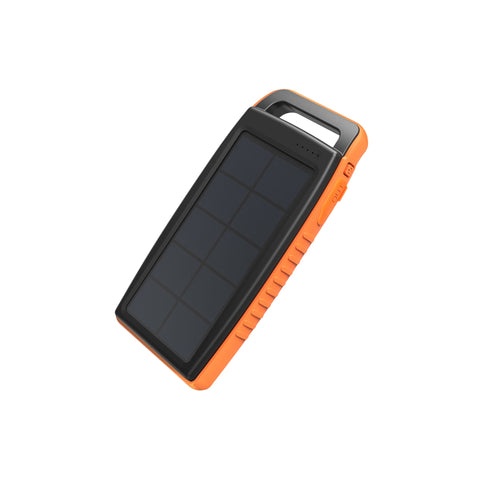 RAVPOWER 15000mAh 2x USB|IP66|Solar Power Bank Black and Orange