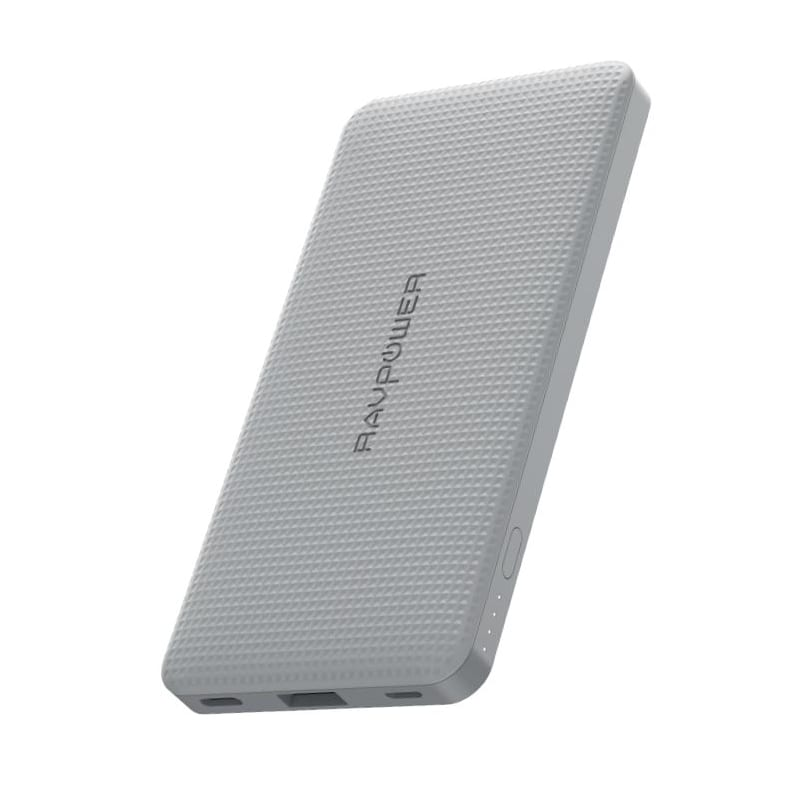 RAVPOWER 10000mAh USB|Type-C PD18W/QC3.0 Power Bank - Grey