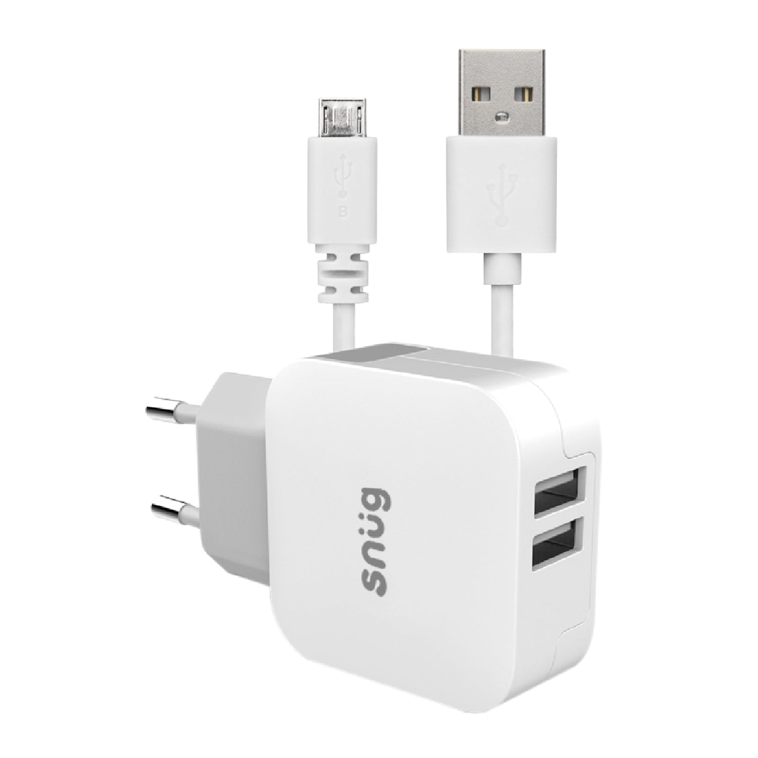 Snüg Home Charger 2 USB Port 3.4 Amp Charger – Micro USB