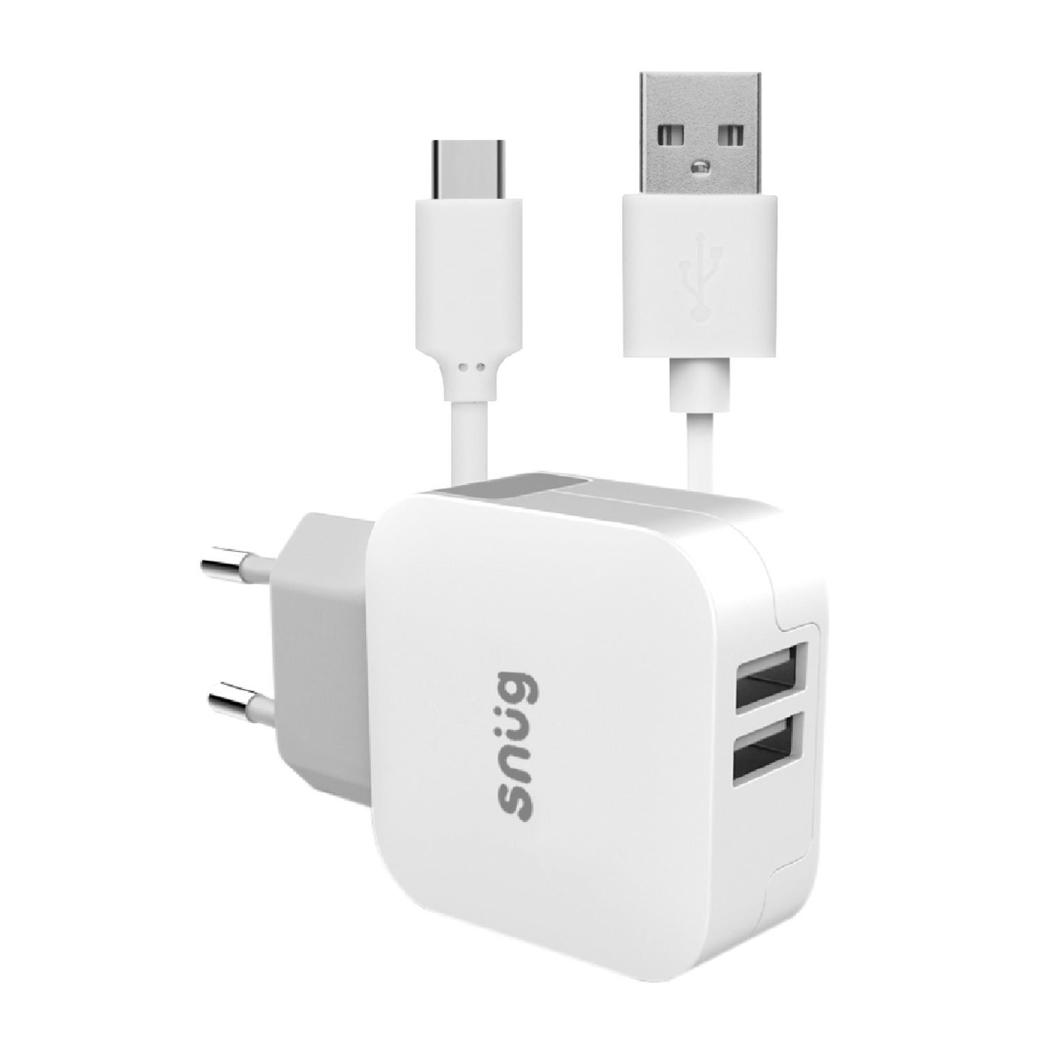 Snüg Home Charger 2 USB Port 3.4 Amp Charger – Type C