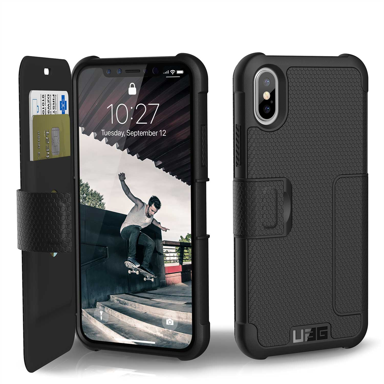 UAG IPHONE X METROPOLIS CASE-BLACK | BaRRiL