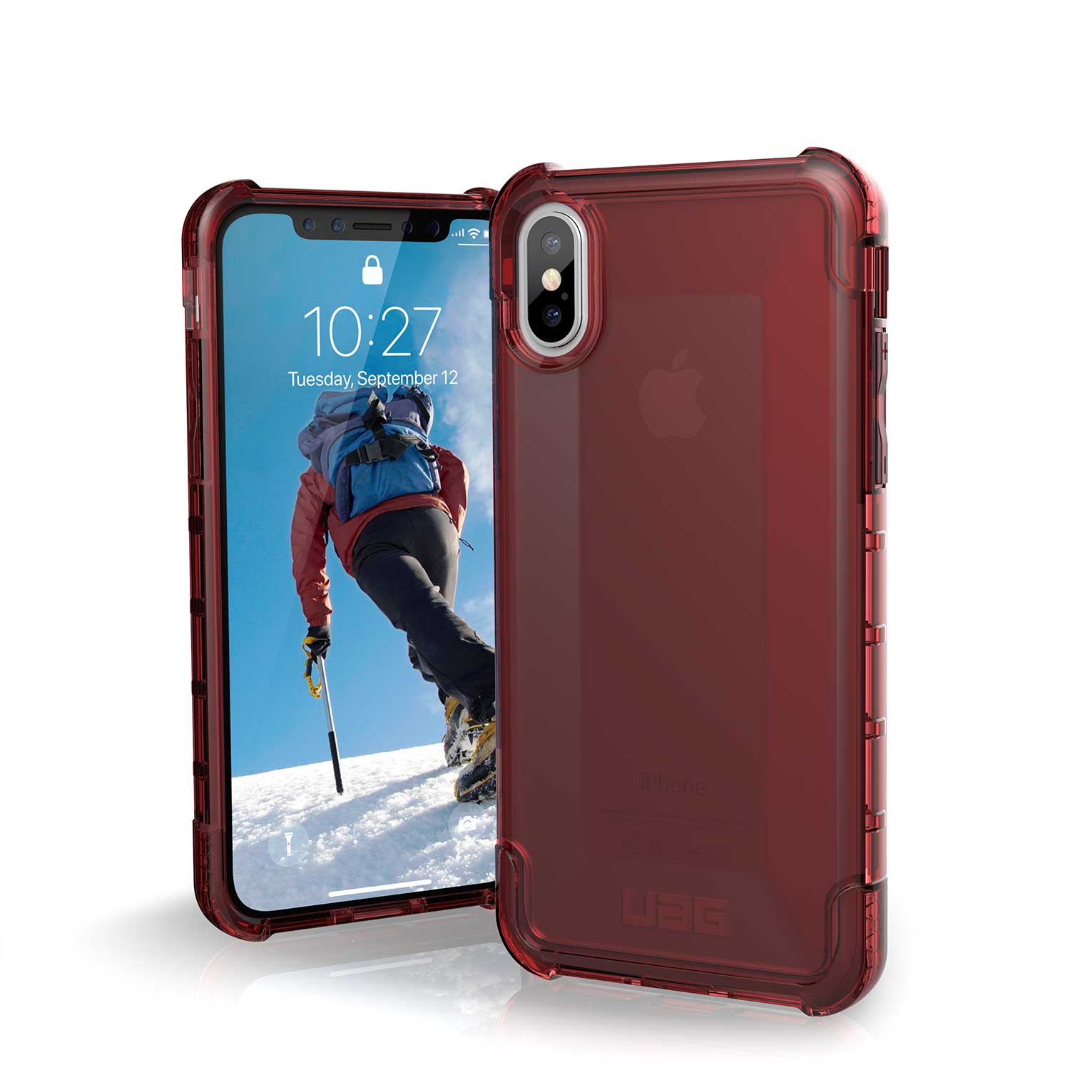 UAG IPHONE X PLYO CASE CRIMSON RED | BaRRiL