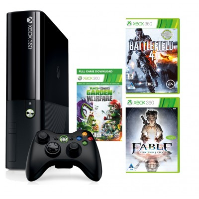 Xbox 360  500GB+Fable Anniversary +Plants vs Zombies DLT + Battlefield 4 | BaRRiL