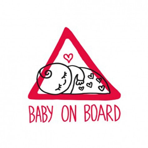 Autosticker baby on board Chispum