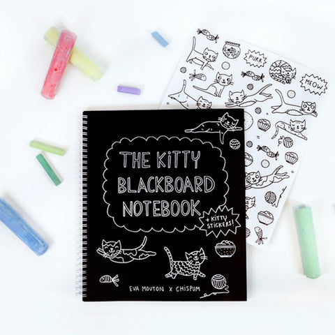 The Kitty Blackboard Notebook by Eva Mouton - Chispum