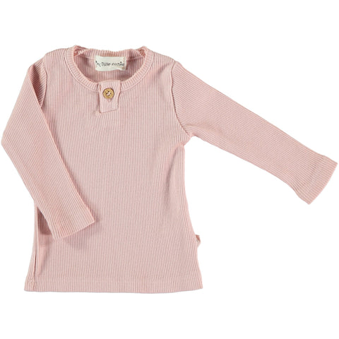 Shirt Organic Rib - Soft Pink - My Little Cozmo