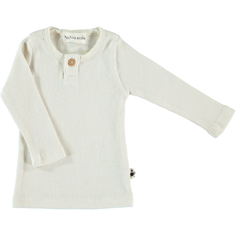 Shirt Organic Rib - Ivory - My Little Cozmo