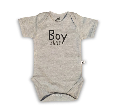 Romper Boy Gang Grey Korte Mouwen