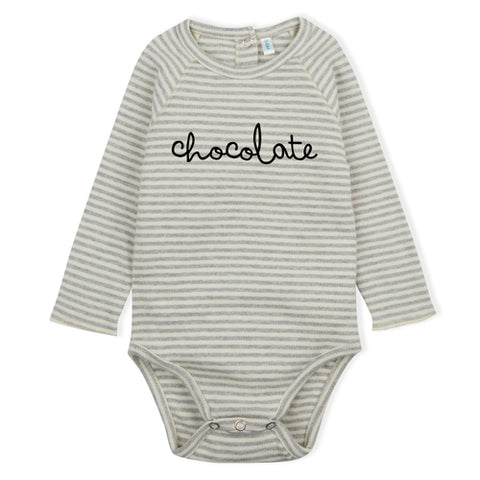 Baby Body Chocolate Stripes Organic Zoo