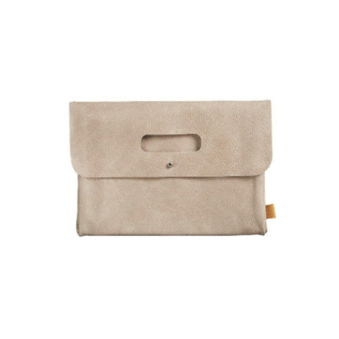 Diaper clutch Taupe Leather Mies & Co Luiertas