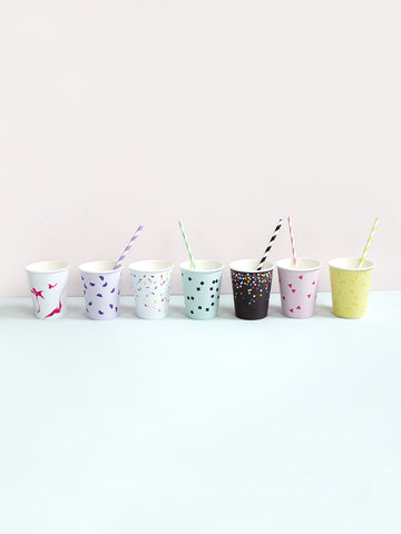 Feest bekers Moon Picnic Paper Cups