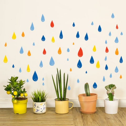 Muursticker Drops of color Chispum Kinderkamer