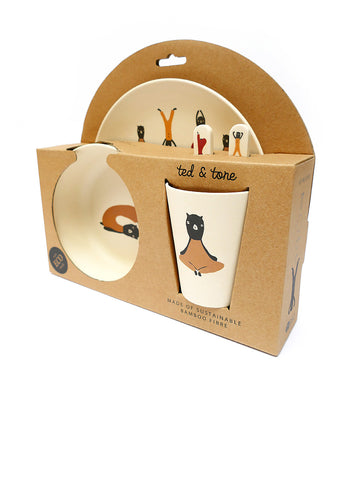 Bamboe Servies Set - Ted & Tone