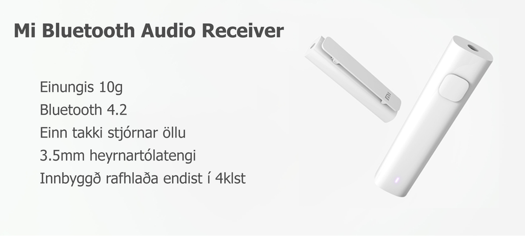 Mu Bluetooth Audio Receiver þráðlaus móttakari