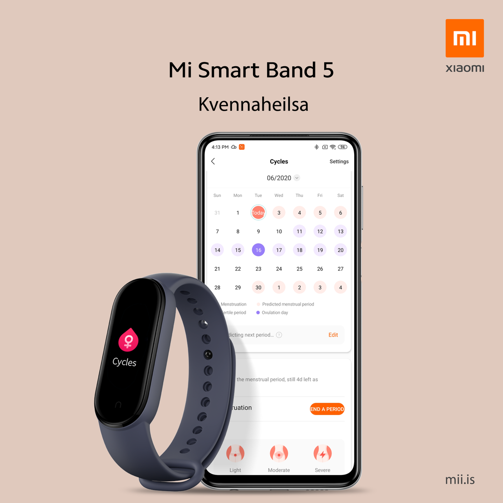 Mi Smart Band 5 - kvennaheilsa