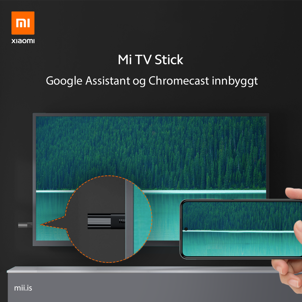 Mi TV Stick - innbyggt Google Assistant og Chromecast